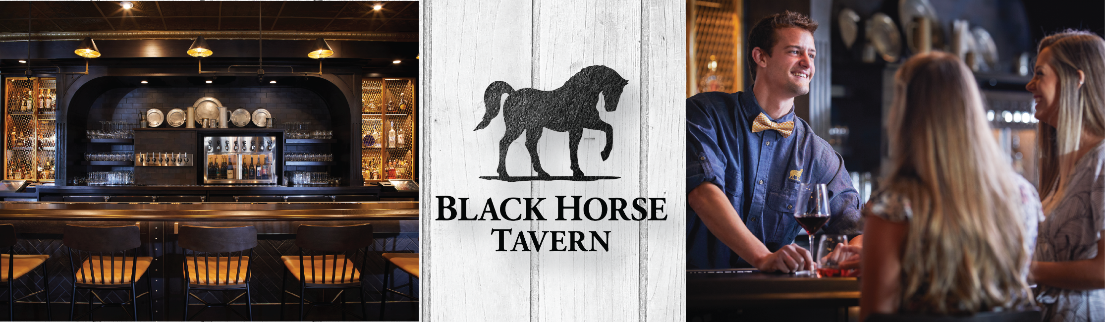 image of bar at Black Horse Tavern