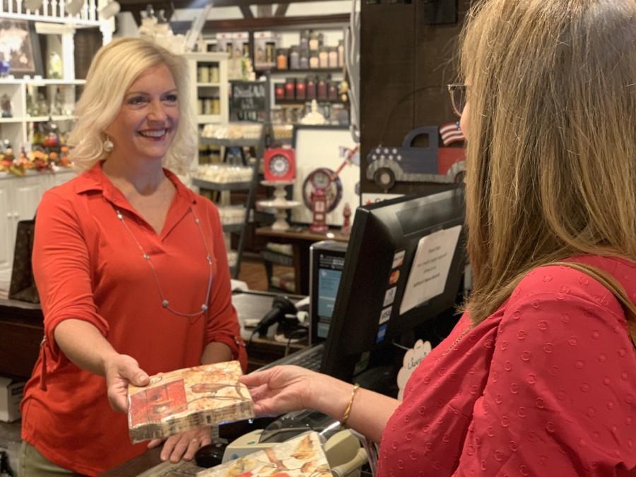 Kathy Schaub owner Golden Lamb gift Shop